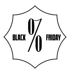 Black Friday sale icon outline style vector
