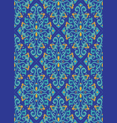 blue oriental pattern vector image