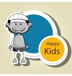 Boy kids happy icon vector