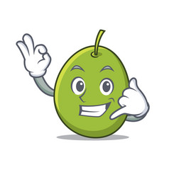 Call me olive mascot cartoon style vector