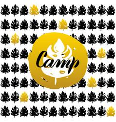Camp postcard design vector