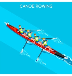 Canoe Without Coxswain Four 2016 Summer Games 3D vector image vector image