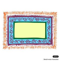 carpet frame vector image