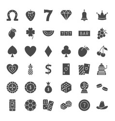casino solid web icons vector image