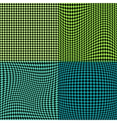 Chess board squares distortion vector