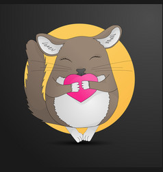 chinchilla pet drawing small animal holding vector image
