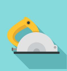 Circular saw icon flat style vector