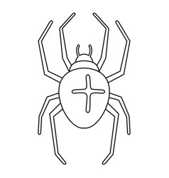 Cross spider icon outline style vector