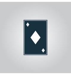 Diamonds card icon vector image