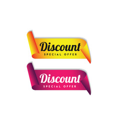 Discount special offer label logo template design vector
