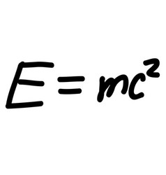 Einstein energy formula scribble sketch vector