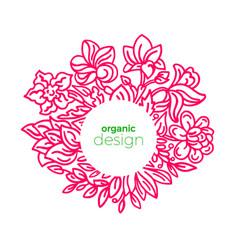 exotic flower in bloom summer organic frame in vector image
