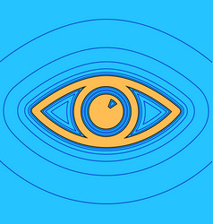 Eye sign sand color icon vector