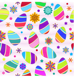 festive easter seamless pattern with decorated vector image