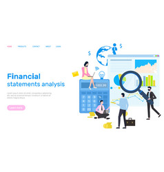 financial statement analysis peoples research vector image