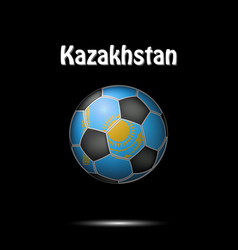 Flag of kazakhstan in the form of a soccer ball vector