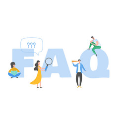 Frequently asked questions concept question vector