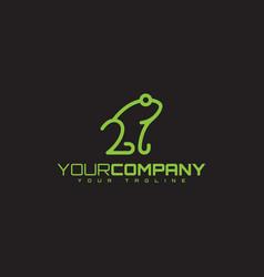 frog line symbol vector image