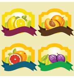 Fruit frames vector