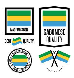 Gabon quality label set for goods vector