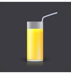 Glass of lemonade vector
