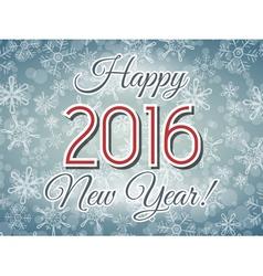 Happy 2016 New Year illistration vector image