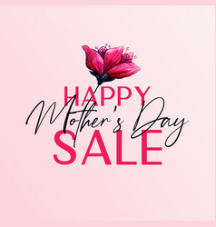 happy mothers day sale banner design vector image