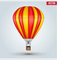 hot air color balloon vector image