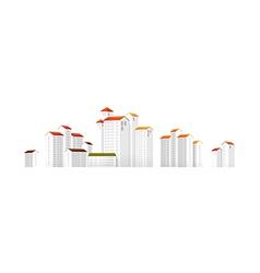 icon apartment building vector image