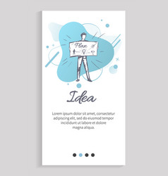 idea businessman person with board planning vector image