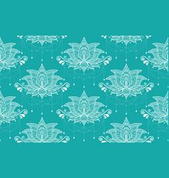 indian lotus flower seamless pattern vector image