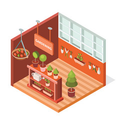 isometric greenhouse for plants vector image