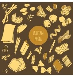 Italian Pasta Set vector image