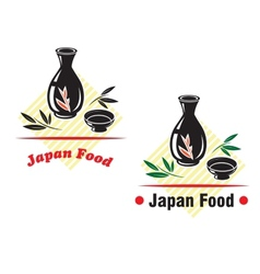 Japan food cuisine vector