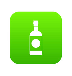 Japanese sake icon digital green vector