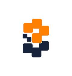 letter b 3 modern vector image