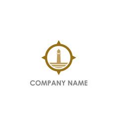 Light house ocean logo vector