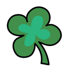 logo of four-leafed clover a symbol of good luck vector image