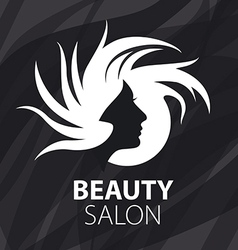 Logo womans head for beauty salon vector