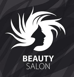 Logo womans head for the beauty salon vector