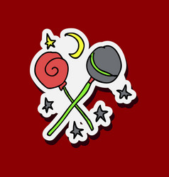lollipop set vector image