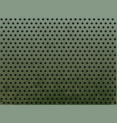 metal with round holes vector image