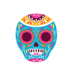 Mexican skull isolated icon vector