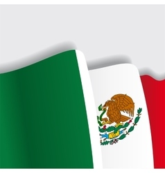 Mexican waving Flag vector