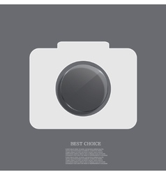 modern camera icon with circle glass vector image