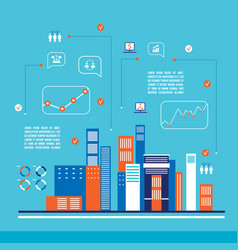 modern city infographics flat design vector image