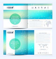 Modern template for square brochure vector
