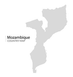 mozambique map africa mozambique country vector image