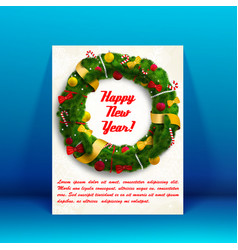 new year holiday card vector image