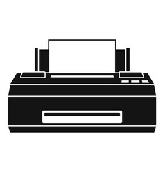 Old printer icon simple style vector